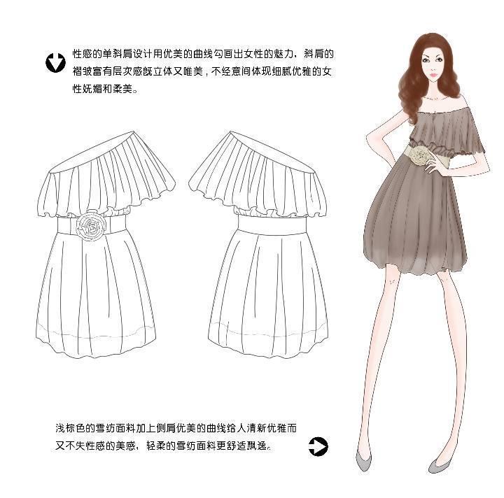 裙子款式收集图片