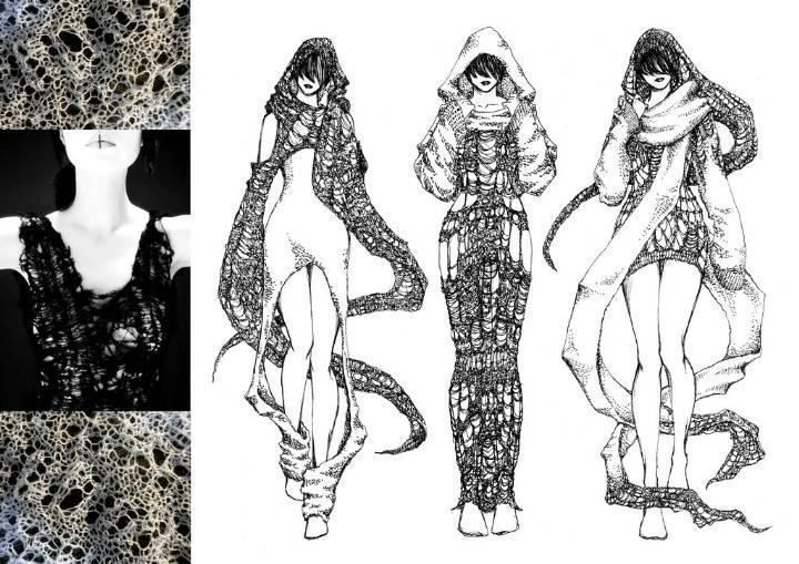创意针织设计-毛衫针织设计-服装设计