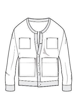 针织卫衣外套款式图