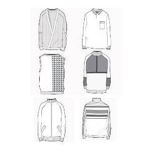 开衫款式图-毛衫针织设计-服装设计-服装设计网手机版