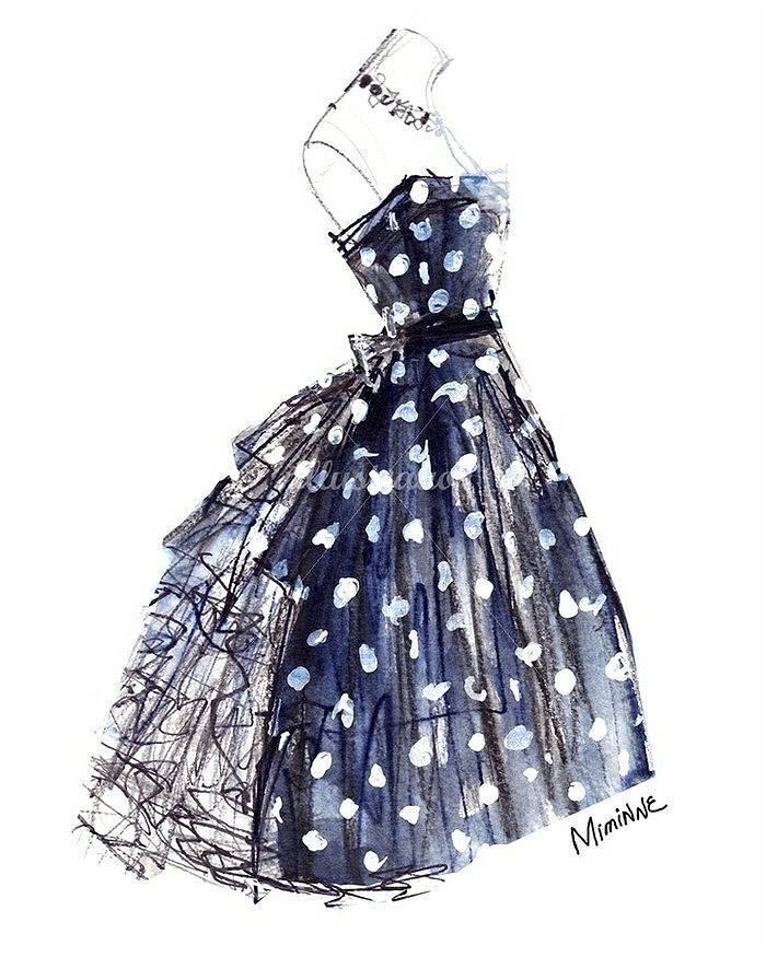 时尚裙子手绘稿-婚纱礼服设计-