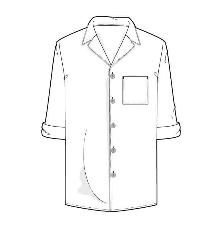 衬衫简笔画图片大全_男士衬衫图片