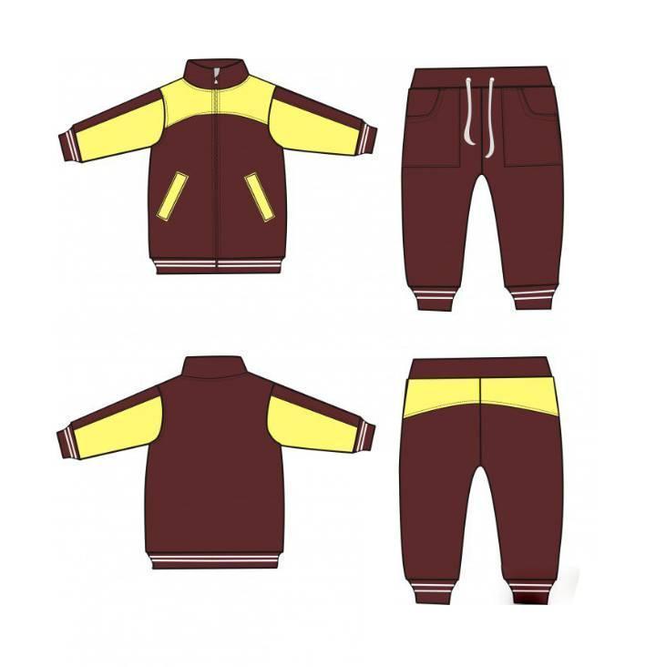 童装运动装款式图-童装设计-服装设计