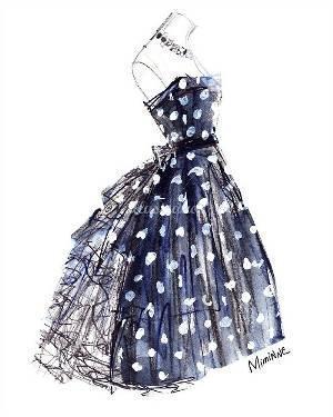 时尚裙子手绘稿-婚纱礼服设计-服装设计-服装设计网版