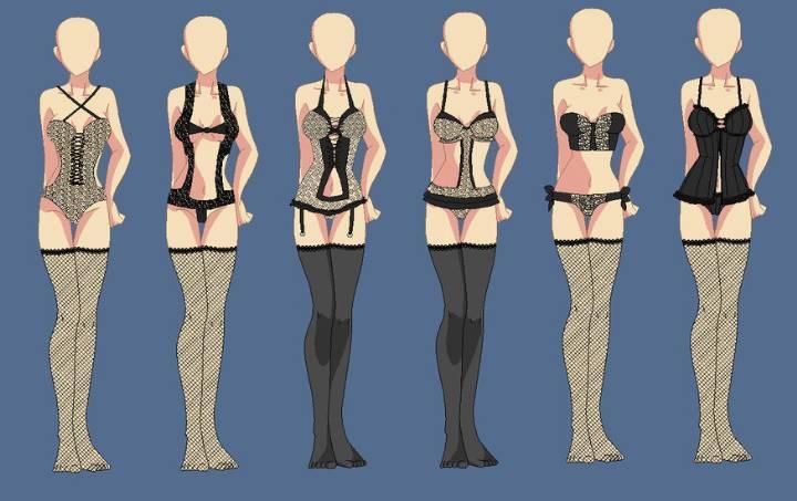 内衣设计效果图作品-内衣设计效果图款式图