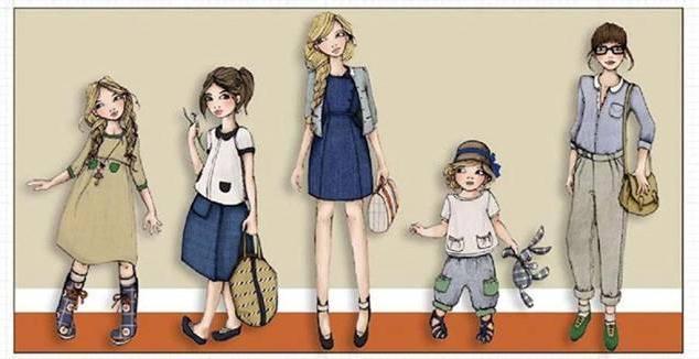 时尚童装效果图-童装设计-服装设计