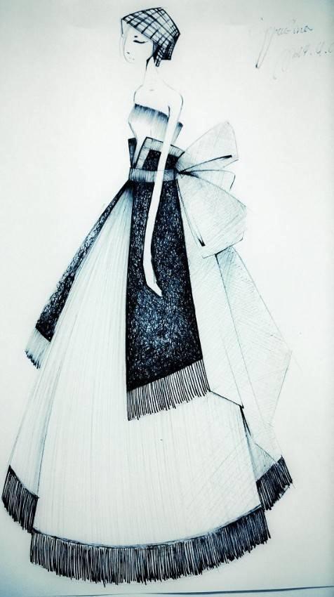 裙子款式设计图-婚纱礼服设计-服装设计