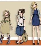 时尚童装效果图