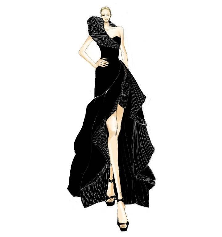 婚纱晚礼服设计手稿-婚纱礼服设计-服装设计