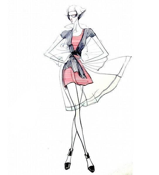 女时装手绘效果图