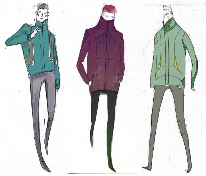 休闲男装手稿-男装设计-服装设计