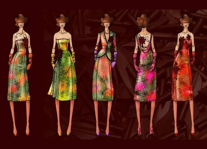 ol女时装手绘效果图-女装设计-服装设计