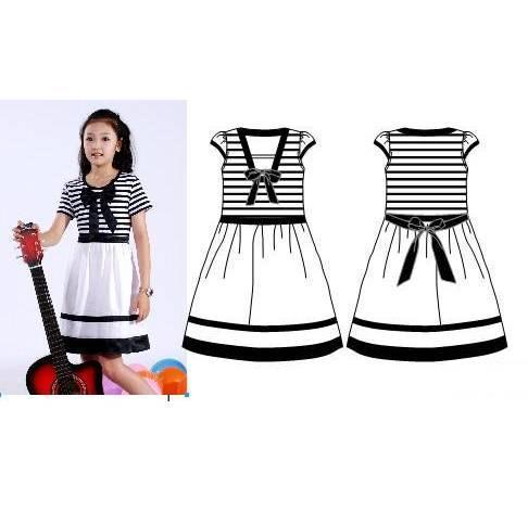 班服校服设计图款式图-职业服装设计-服装设计