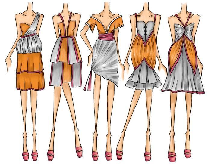 创意连衣裙效果图-女装设计-服装设计
