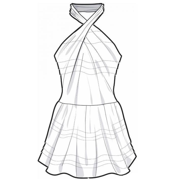 泳装款式图-内衣/家居设计-服装设计