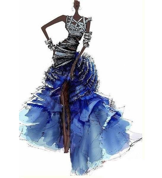 晚礼服设计-婚纱礼服设计-服装设计
