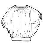 蝙蝠袖上衣款式图