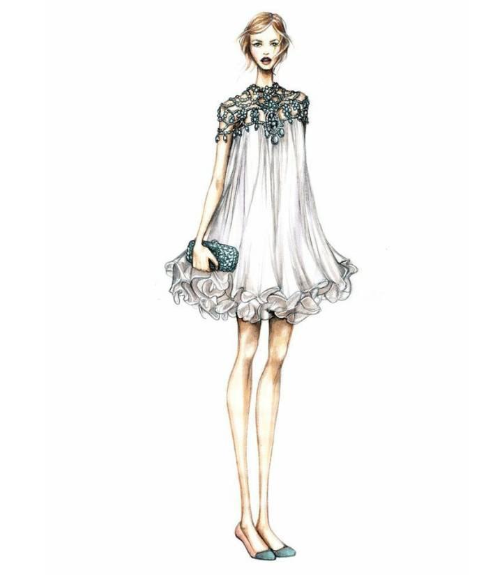 晚礼服设计手稿-婚纱礼服设计-服装设计
