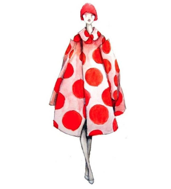创意时装外套大衣手绘效果图-女装设计-服装设计