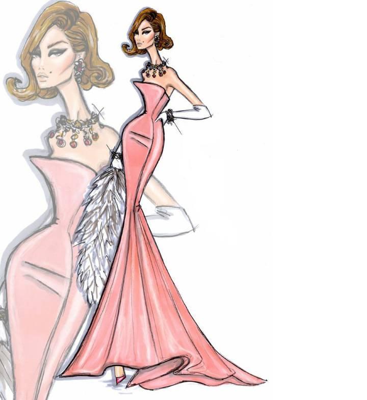 晚礼服手绘-婚纱礼服设计-服装设计