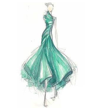 礼服手稿-婚纱礼服设计-服装设计