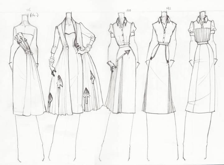 时装手稿-女装设计-服装设计