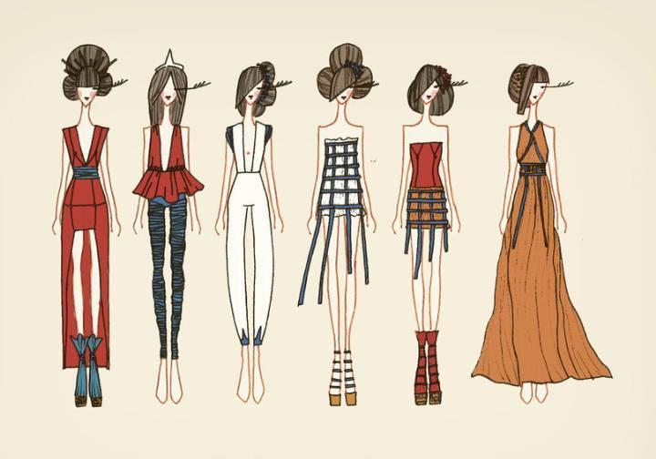 女装设计手绘效果图-女装设计-服装设计