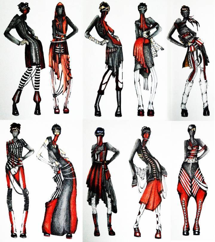 创意时装手稿-女装设计-服装设计