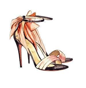 高跟鞋手稿-鞋帽配饰设计-服装设计-服装设计网手机
