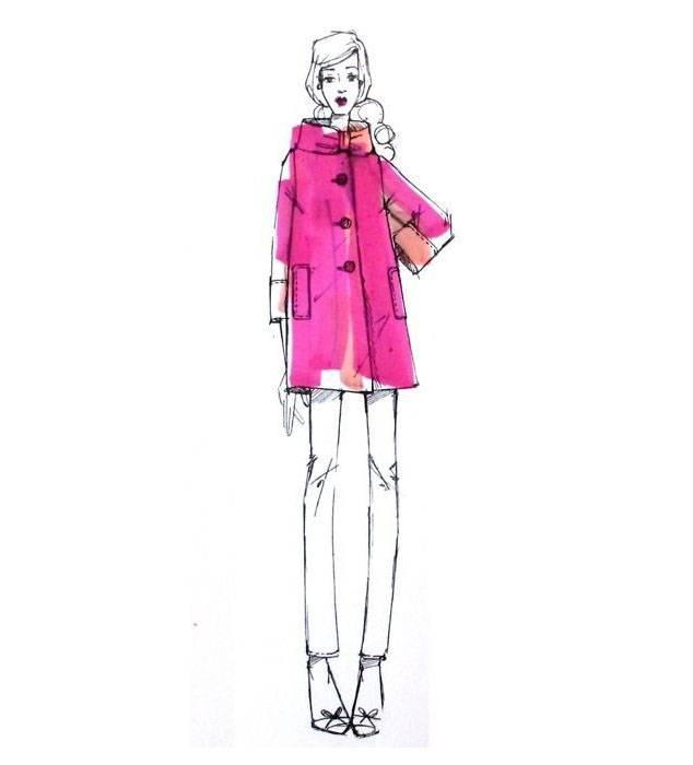 休闲女装手绘效果图-女装设计-服装设计