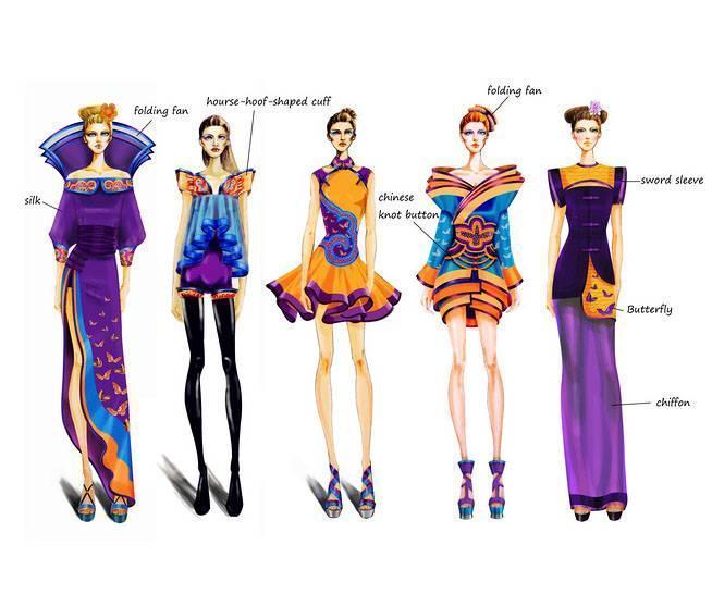 创意礼服效果图-婚纱礼服设计-服装设计