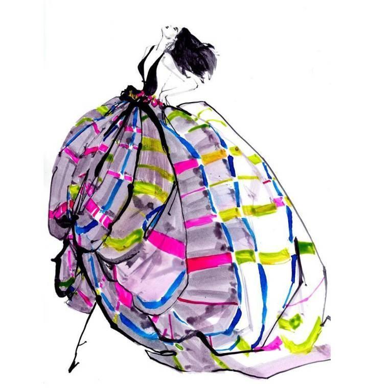 晚礼服手绘效果图作品-晚礼服手绘效果图款式图图片