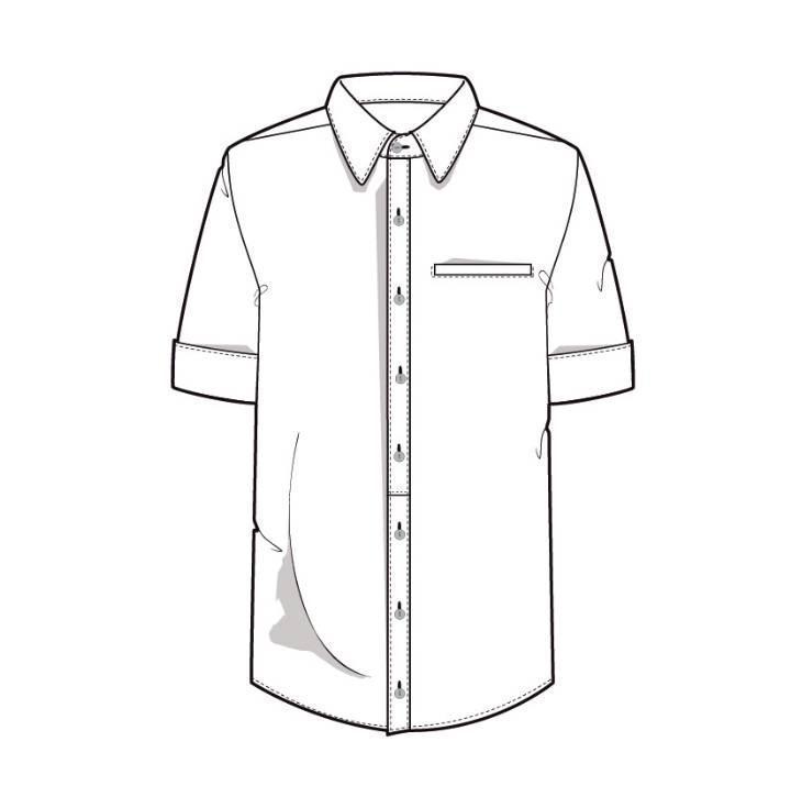 衬衫款式图