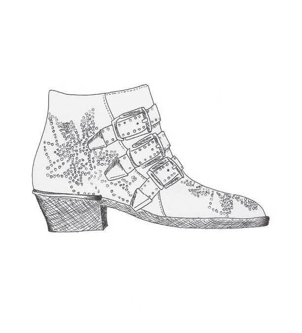 配饰设计鞋子手稿