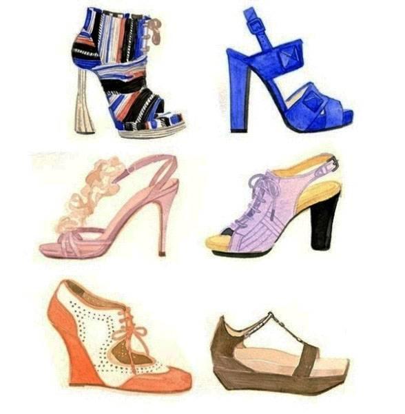 高跟鞋-鞋帽配饰设计-服装设计