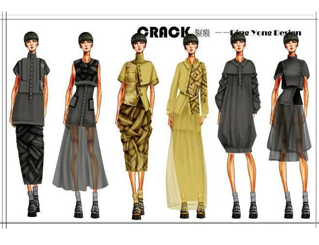 裂痕-大赛作品设计-服装设计