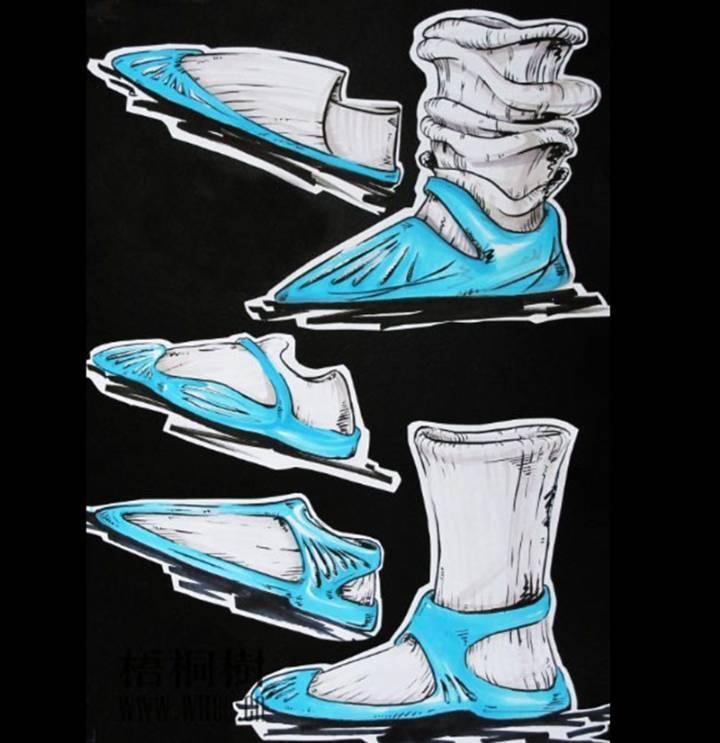 配饰鞋子手稿-鞋帽配饰设计-服装设计