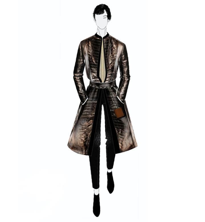 创意男装手绘效果图-男装设计-服装设计