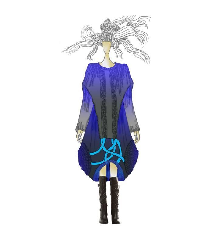 创意针织效果图-毛衫针织设计-服装设计