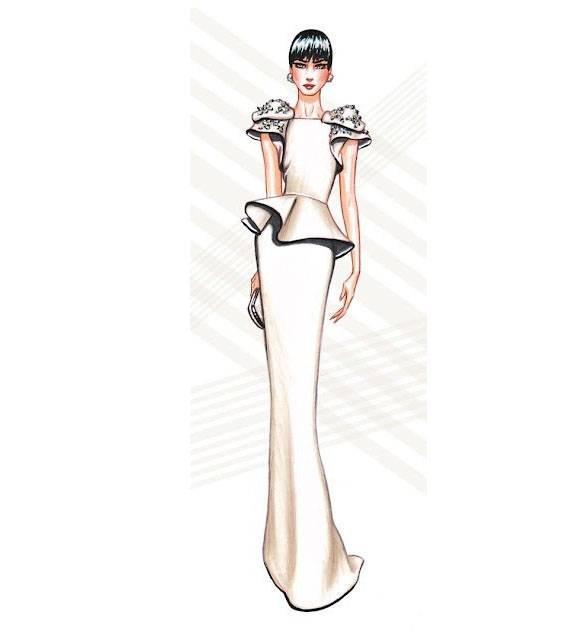 个性礼服效果图-婚纱礼服设计-服装设计图片