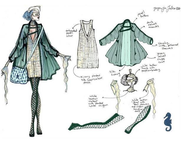 休闲女装手稿-女装设计-服装设计