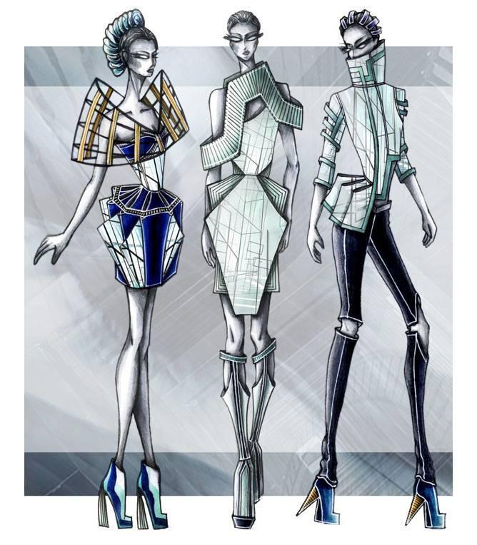 创意女装设计-女装设计-服装设计