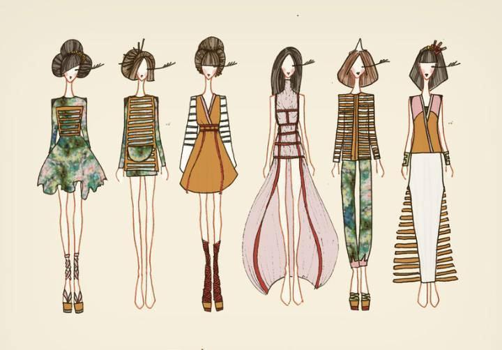 手稿时尚女装-女装设计-服装设计