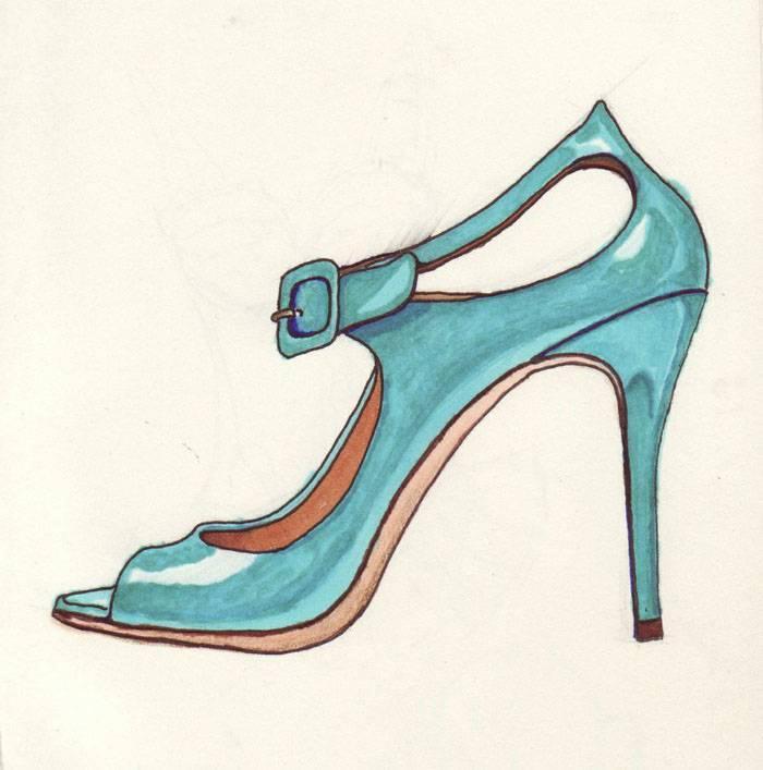 手绘稿-鞋帽配饰设计-服装设计