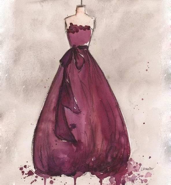 晚礼服手绘