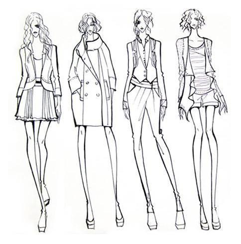 休闲职业女装手稿-女装设计-服装设计