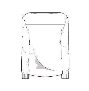 针织套衫款式图