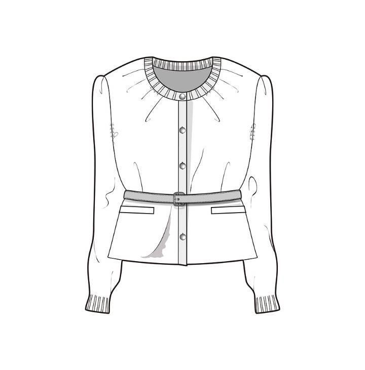 外套款式图-女装设计-服装设计图片