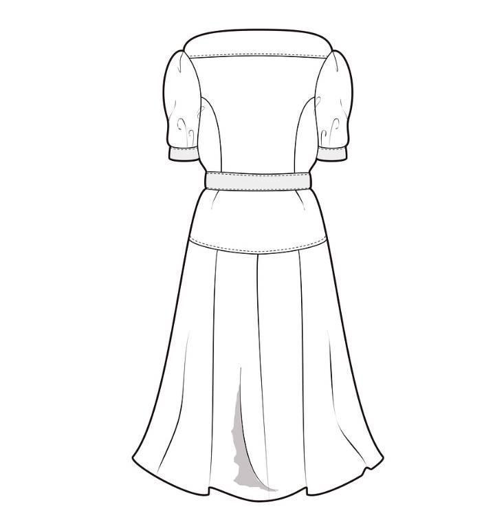 连衣裙裙子式图