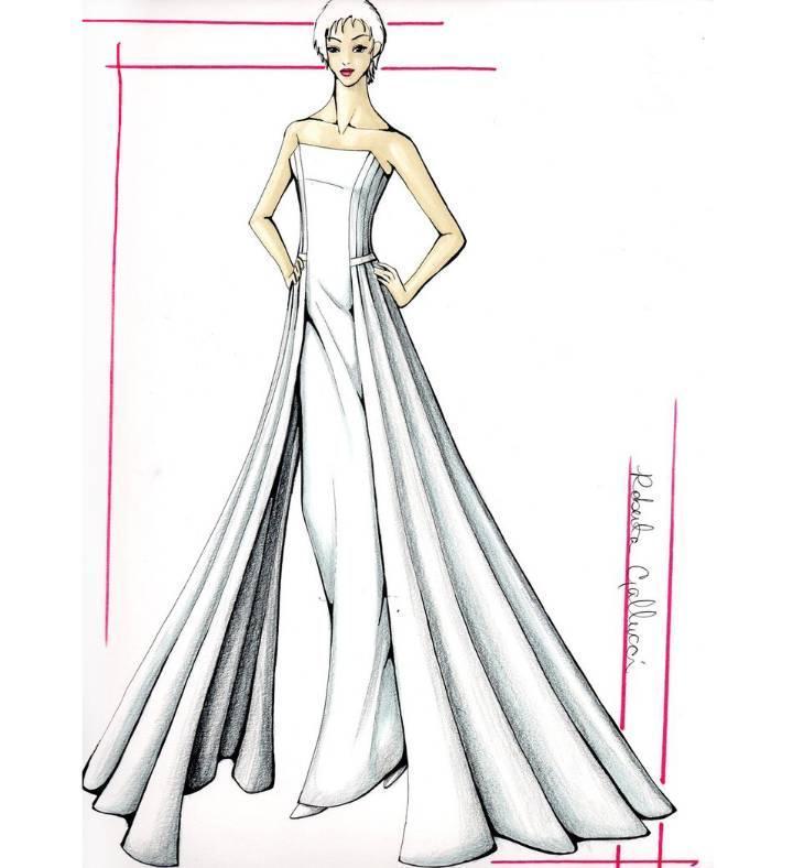 婚纱礼服手稿-婚纱礼服设计-服装设计